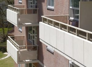 14 Dublin Street Apartments with panel insert railings - small