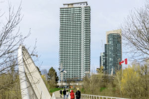 Jade Waterfront Condo in Toronto with glass railings - small