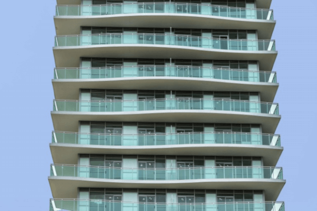Jade Waterfront Condo in Toronto with glass railings