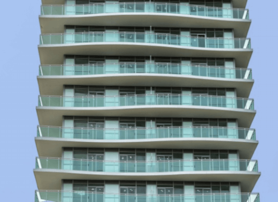 Jade Waterfront Condos – Glass Railings