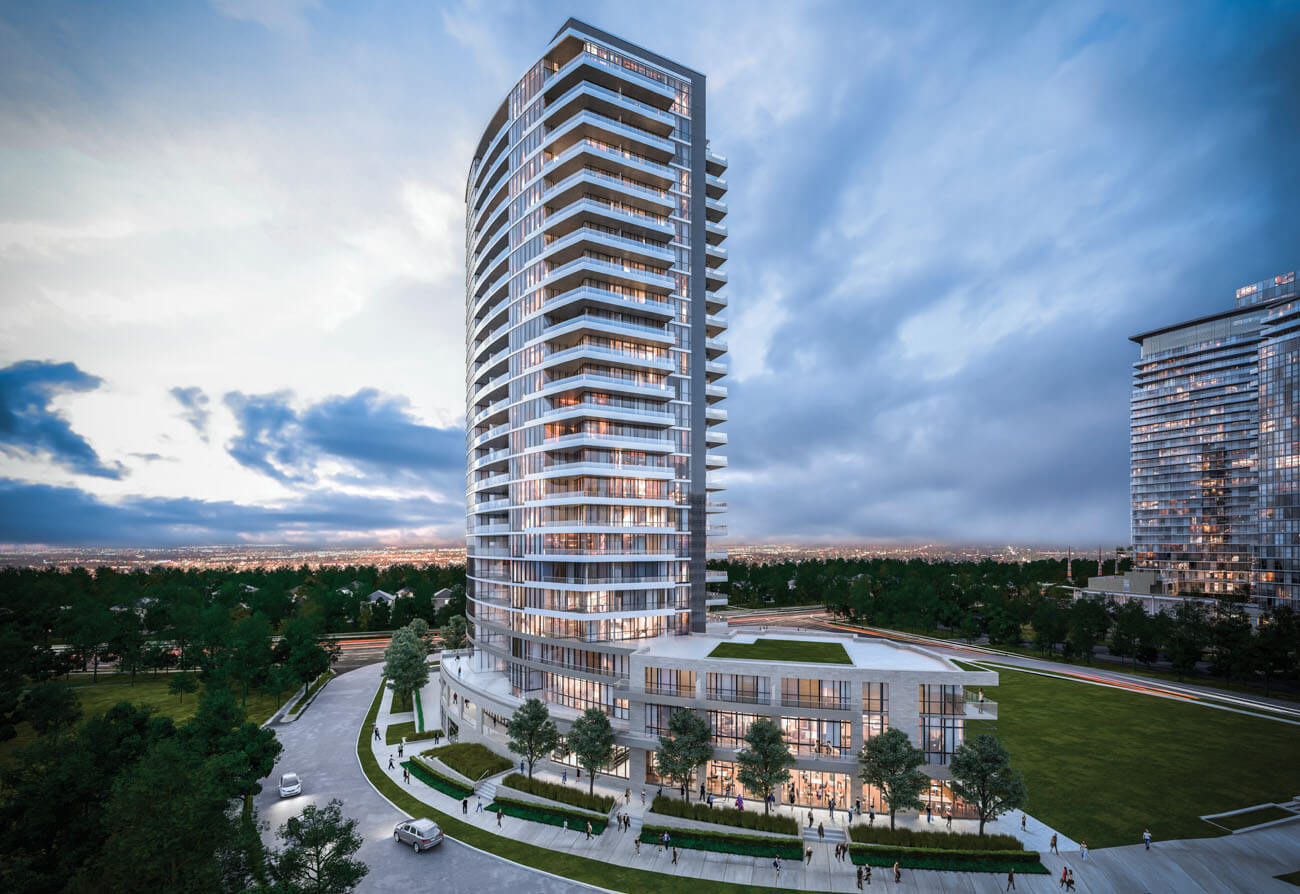 Fifth on the Park Condo in Toronto with glass railings - large