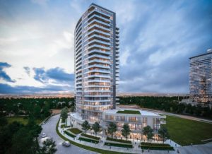 Fifth on the Park Condo in Toronto with glass railings - small