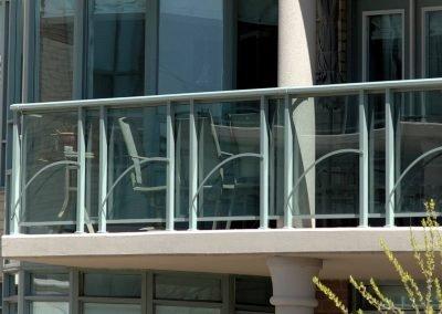 Glass and Aluminum Railing