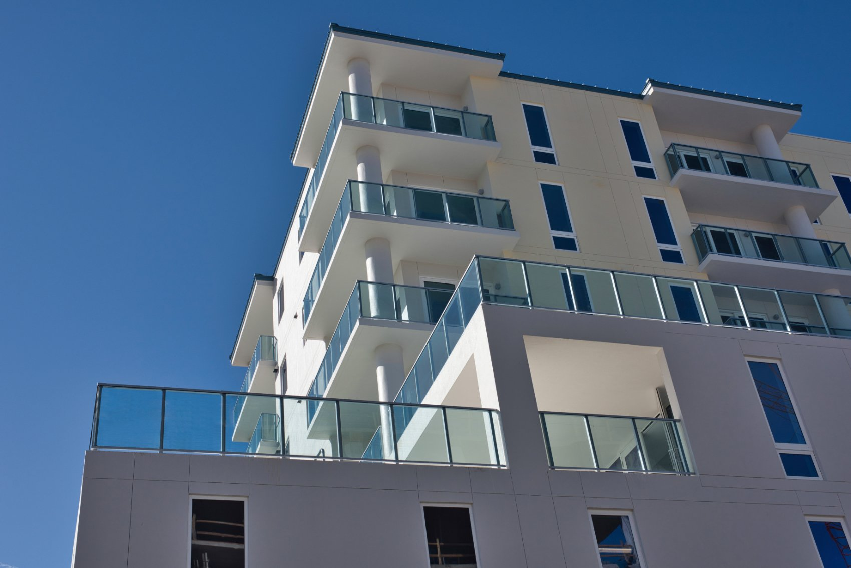 PuraVida Condos in Clearwater Beach with Glass Railings