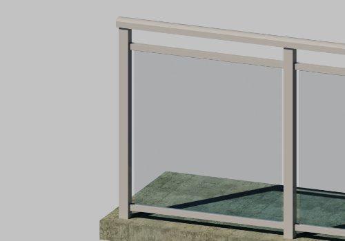 G526 Glass Railing