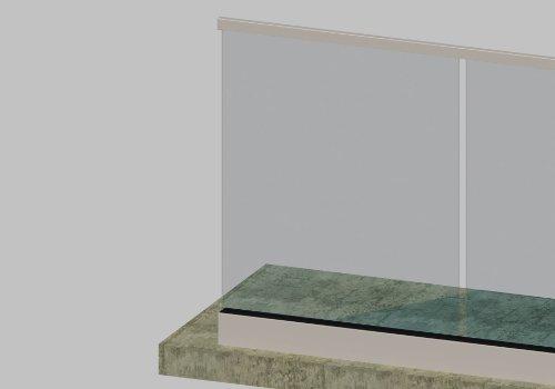 G530A Glass Railing